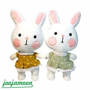 عروسک خرگوش پیراهن پوش
